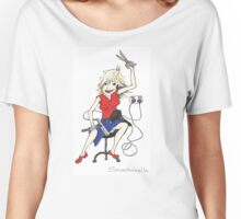 Hairdresser at work Women's Relaxed Fit T-Shirt