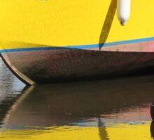 Yellow Boat Sticker