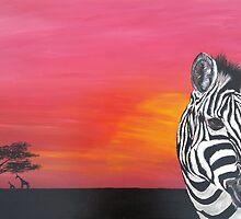 Sunset Zebra by BluGeckos
