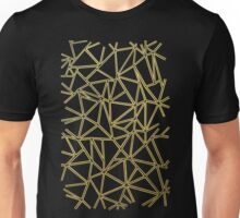 Abstract Blocks Gold Unisex T-Shirt