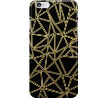 Abstract Blocks Gold iPhone Case/Skin