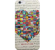 World of Love iPhone Case/Skin