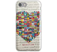World of Love iPhone Case/Skin