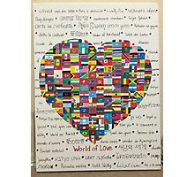 World of Love Photographic Print