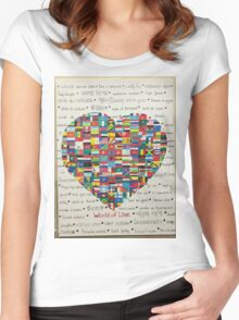 World of Love Women's Fitted Scoop T-Shirt
