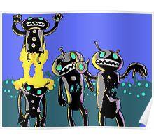 zombie robots Poster