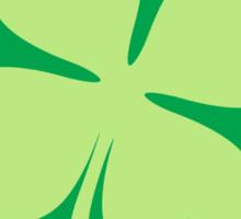 Round four leaf clover emblem St Patrick's day design Sticker