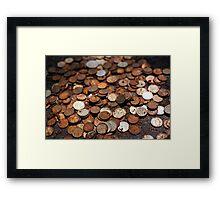 Rusty money Framed Print