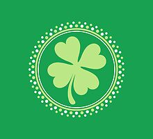 Four leaf clover St Patrick's day design by Mhea