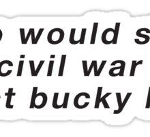 protect bucky barnes Sticker