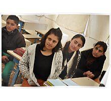 Students - Qustapa_Syrian Refugee Camp_Arbil-KRG I_13-3-2014 Poster