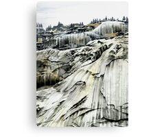 'Yosemite: Winter Stone' - Watercolours. Canvas Print