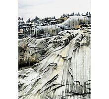 'Yosemite: Winter Stone' - Watercolours. Photographic Print