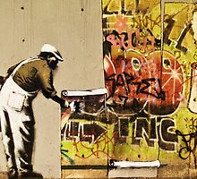 Banksy blue collar by Tezwah