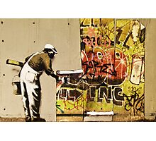 Banksy blue collar Photographic Print
