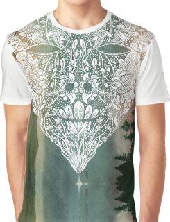 White Heart in Winter Sunset Graphic T-Shirt