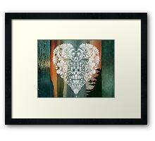 White Heart in Winter Sunset Framed Print
