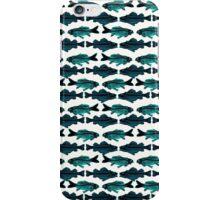 Fish (blue on white) iPhone Case/Skin