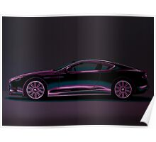 Aston Martin DBS V12 Painting Poster