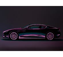 Aston Martin DBS V12 Painting Photographic Print