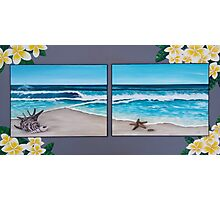The Frangipani Beach Photographic Print