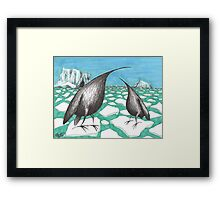 Pinguins Framed Print