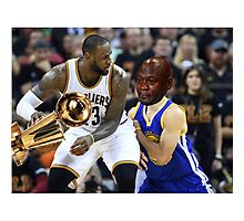 Lebron Robs Steph 2 Photographic Print
