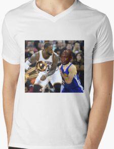 Lebron Robs Steph 2 Mens V-Neck T-Shirt