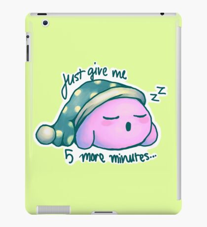 Kirby- 5 More Minutes iPad Case/Skin