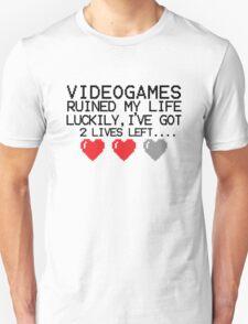 Retro Gaming....  videogames ruined my life T-Shirt