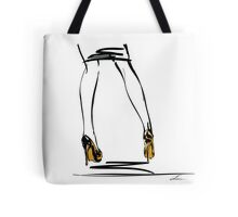 Gold High Heels Tote Bag