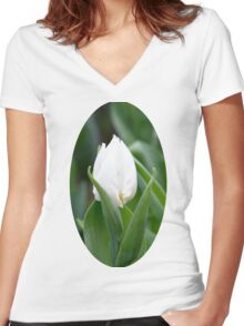 White Tulip Women's Fitted V-Neck T-Shirt