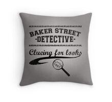 Baker Street Detective (Black) Throw Pillow