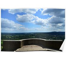 Amazing view from Box Hill, Surrey, UK Poster
