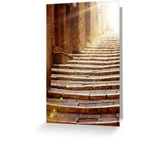 Stairs To Light Greeting Card