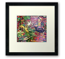 """what's up in the garden"" Framed Print"