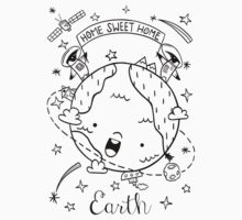 Planet Earth and the Empire Penguins One Piece - Short Sleeve