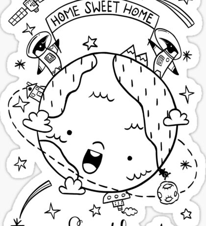 Planet Earth and the Empire Penguins Sticker