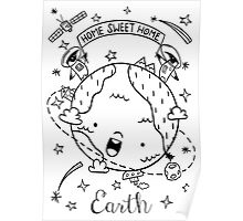 Planet Earth and the Empire Penguins Poster