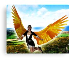 Angel of Clare in Flight Canvas Print