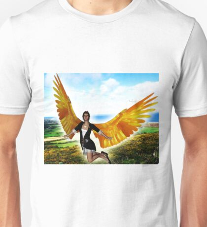 Angel of Clare in Flight Unisex T-Shirt