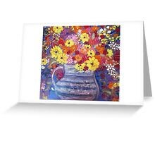 """""""A Jug of Flowers"""" Greeting Card"""