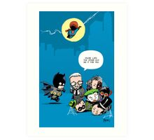 Gotham babies Art Print