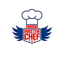 Cool Master Star Chef Logo Design Photographic Print