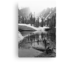 """Mirror Lake BW"" RMNP Canvas Print"
