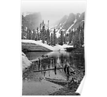 """Mirror Lake BW"" RMNP Poster"