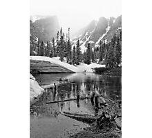 """Mirror Lake BW"" RMNP Photographic Print"