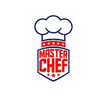 Cool Master Star Chef Logo Photographic Print