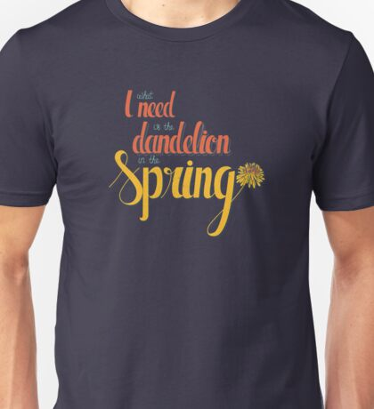 Dandelion in the spring Unisex T-Shirt