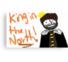 Robb Stark - King in the North Canvas Print